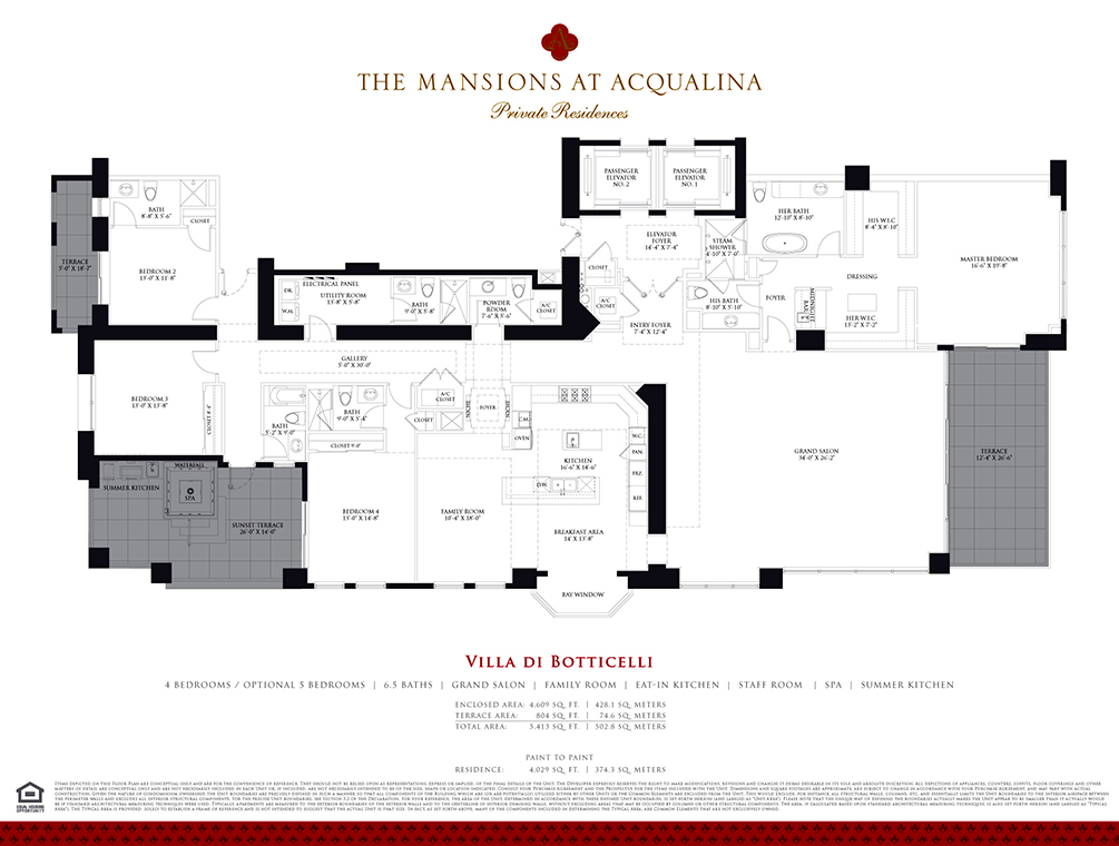 Miami luxury condos luxury real estate in miami for Miami mansion floor plans