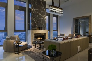 Mansions PH 45 Family Room with Fire Place